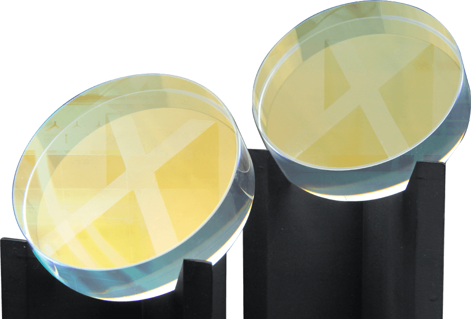 OTR coating lenses on stands