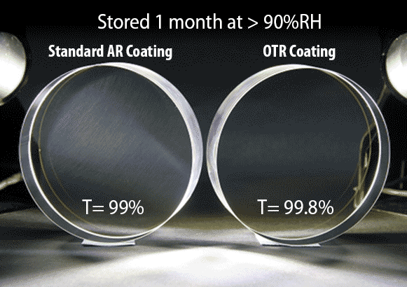 Optical coating process, Standard coating, OTR coating