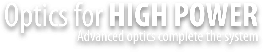 this is the optics for high power logo text