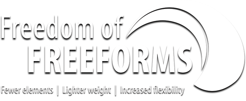 This is the Optimax freedom of freeforms logo