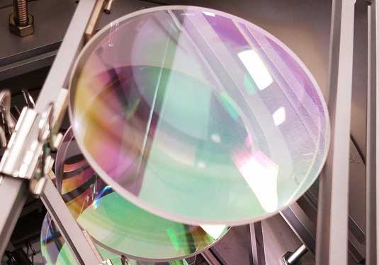 Optical coating process, thin film custom coating