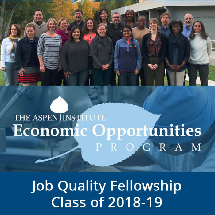 Aspen Institute economic opportunities program 2018