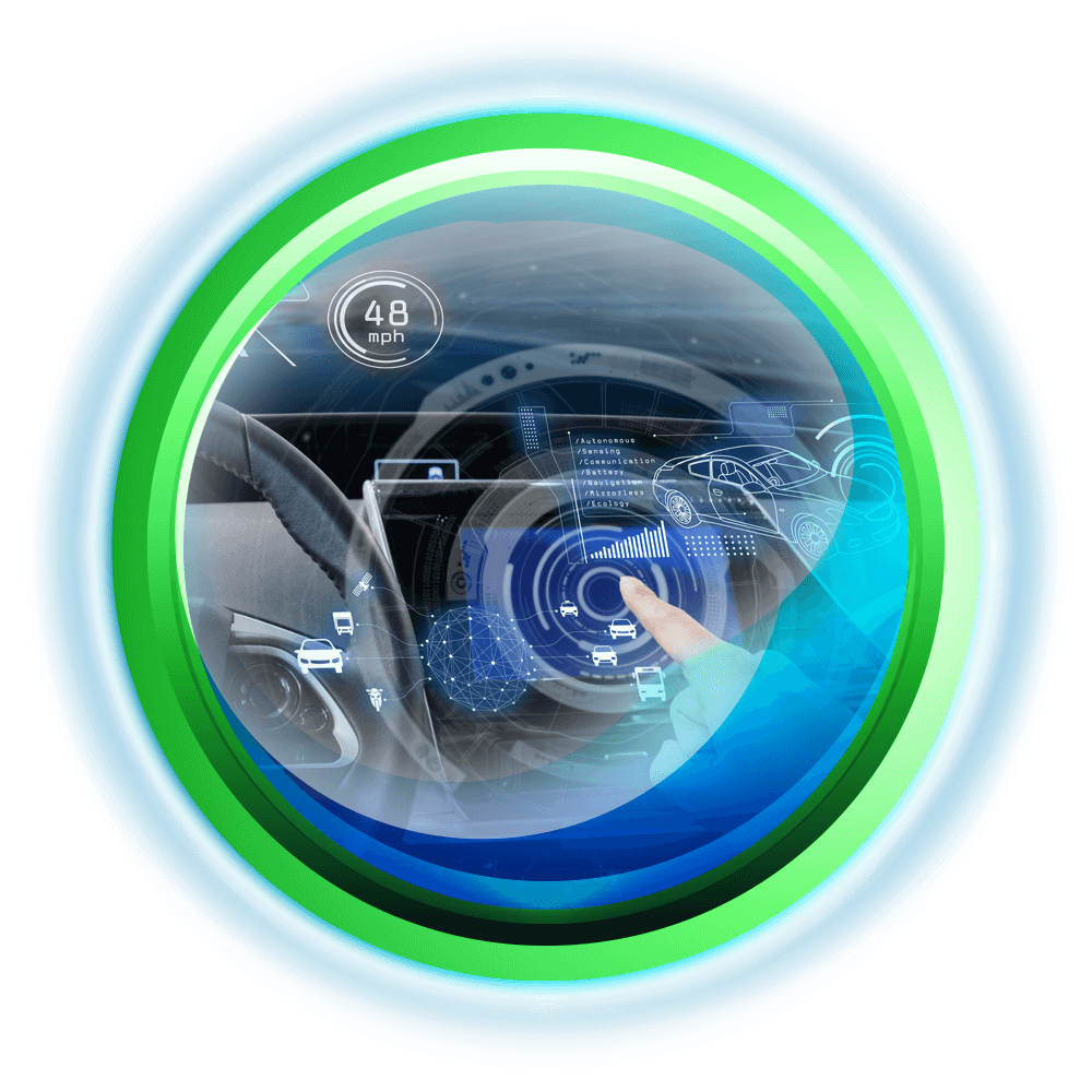 automatic driving assistance circle icon