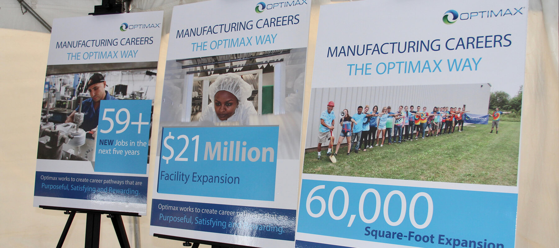 Optimax groundbreaking expansion