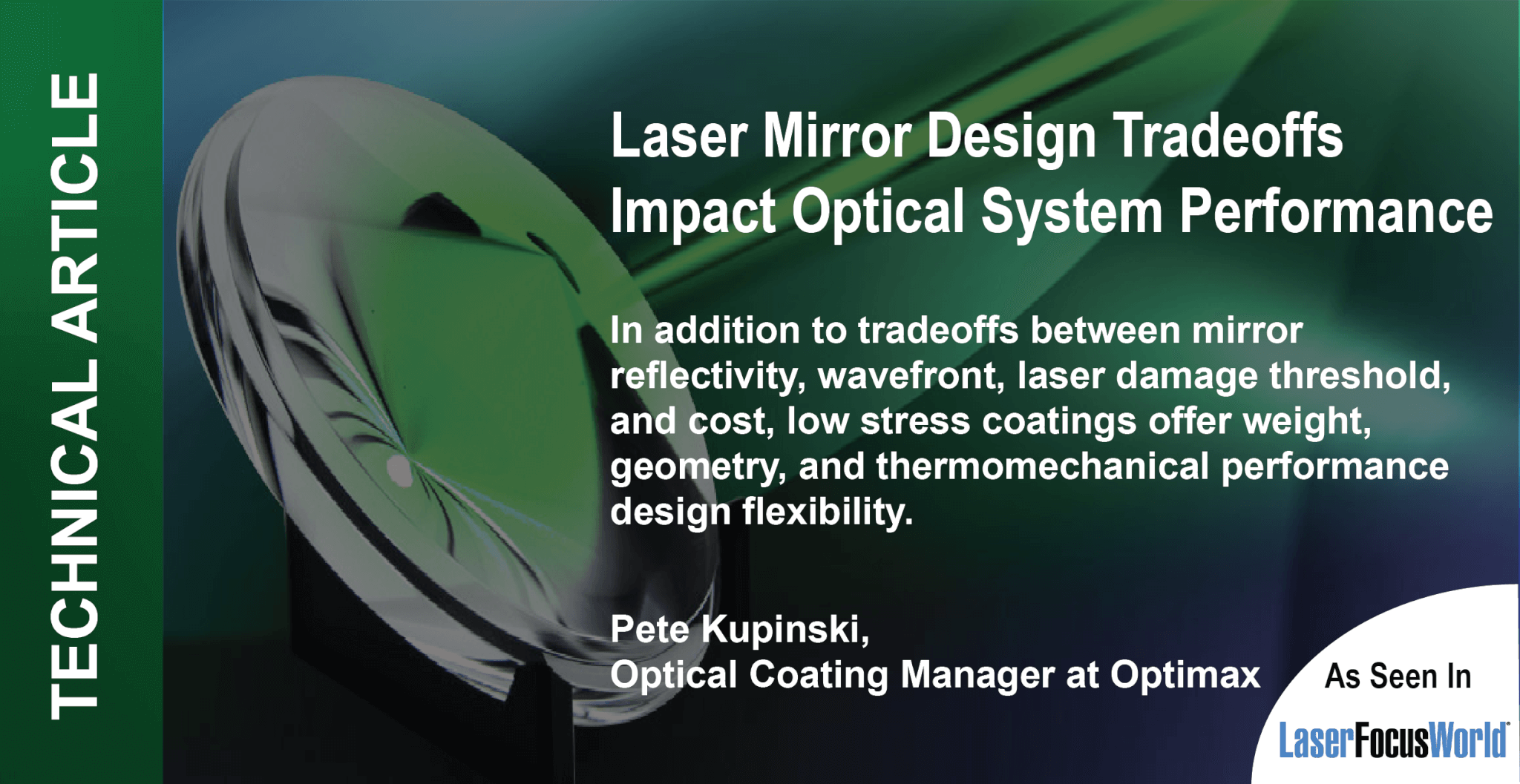 Laser mirror design tradeoffs impact optical system performance LFW technical article