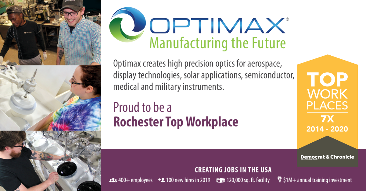 Rochester top workplace Optimax 7x