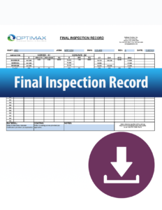 Final inspection record download