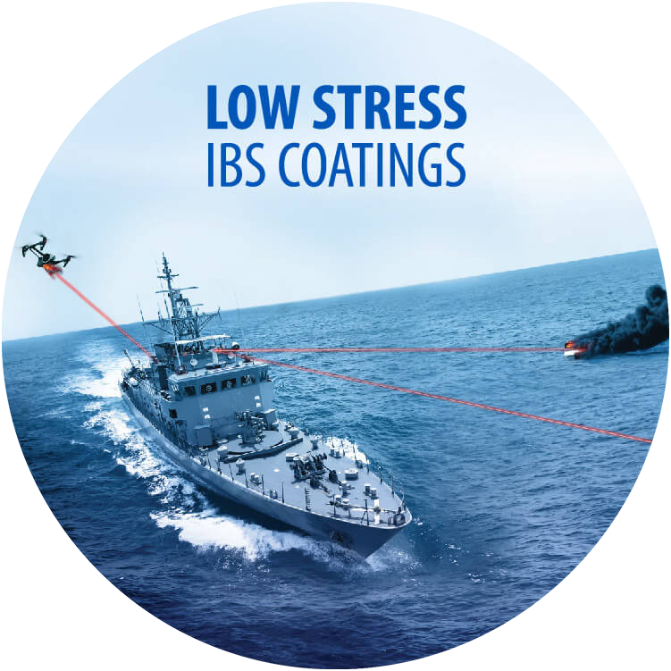 Low Stress IBS Coatings